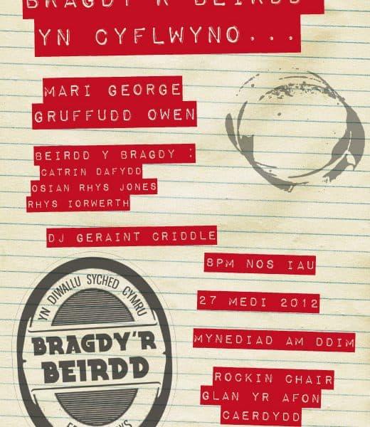 Poster Bragdy'r Beirdd Medi 2012