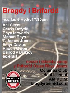 Bragdy i Brifardd - noson i ddathlu cadeirio Osian Rhys Jones