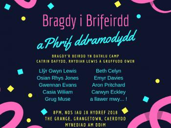 Poster Bragdy i Brifeirdd